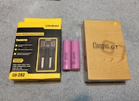 New Battery charger, new Mod sealed in box. 2x18650 batteries Toronto, M3H 3P2