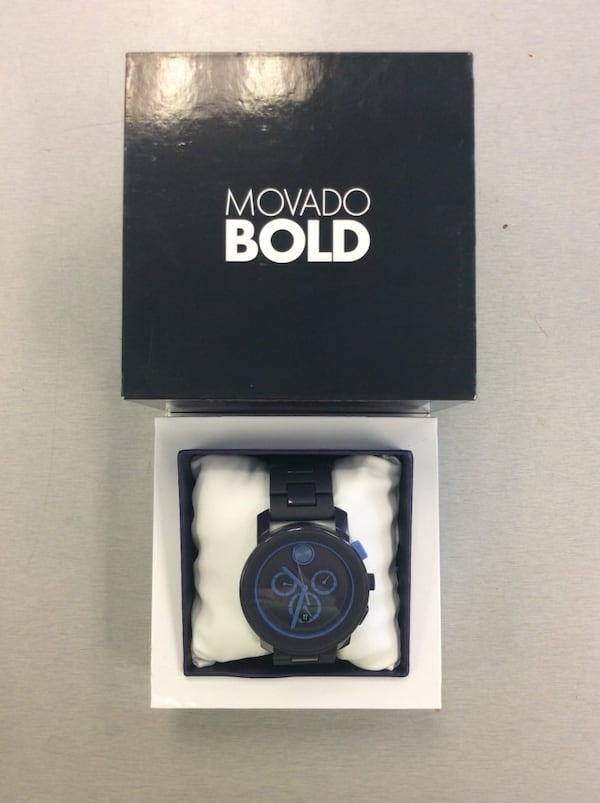 Men's Movado Bold Chronograph Watch - Navy Blue - MINT 0