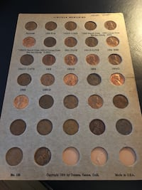 Lincoln cents 1950s