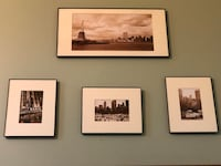 Black/white NY City pictures framed Nashville, 37027