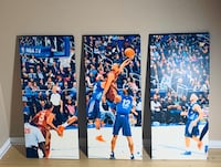 3 piece Canvas Wall Decor featuring Westbrook in an all star game Norman, 73071