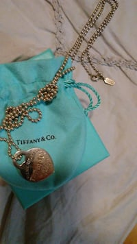 TIFFANY Sterling Heart Return to Sender with COACH Sterling silver ball chain