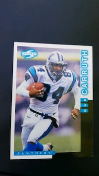 Rae Caruth panthers WR football card