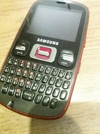 Red samsung qwerty pad phone