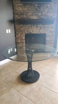 Glass kitchen table large was $600 moving