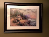 "Thomas Kinkade Painting ""Pine Cove Cottage"" Edmonton, T5X 6G1"
