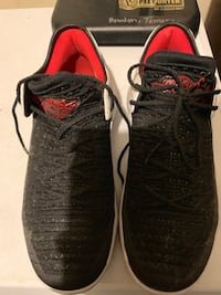 Pair of black-and-red nike basketball shoes     Size 7 youth Anchorage, 99502