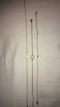1 Gold choker and 2 gold bracelets  Los Angeles, 91304