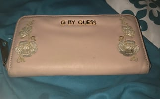 Blush pink according G by guess wallet