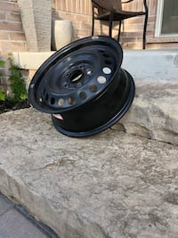 Black rims, 17 inches.. $150 for the set of 4 Oakville