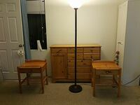 Dresser and matching night stands lamp included