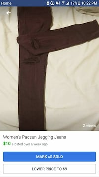 Woman's Pacsun Jegging Jeans Midland, 48640