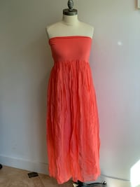 Coral Strapless Dress Chicago, 60642