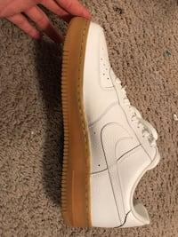 White and brown nike air force 1 size 10,5