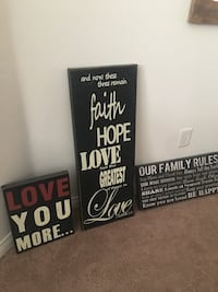 Three assorted-color quotes wooden signages Bakersfield, 93312