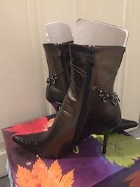 Ankle boots metallic mix tone