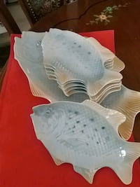 Set of 6 exquisite fish plates