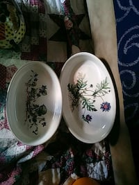 two white and blue floral ceramic bowls Springfield, 65803