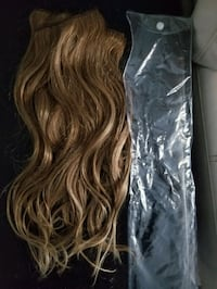Full set of Un-used, 18 inch blonde hair extention