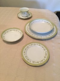 three white ceramic plates and bowls HERNDON