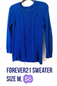 3 Forever21 sweaters. All for $12. Size M 14 km