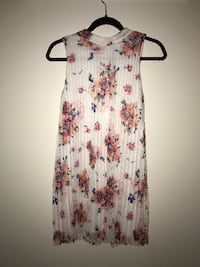 white and pink floral sleeveless dress Portland