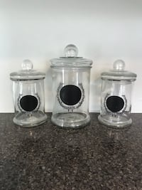 Set of 3 Glass Containers Manassas