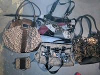 Women's purses and clothes