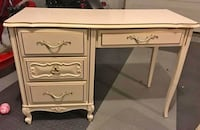 French Provincial antique white desk vanity Kensington, 20895