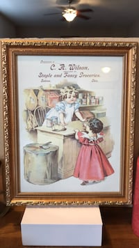 Adorable! C.A. Wilson Picture of two little girls framed in Gold Gainesville, 20155