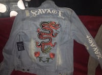 """Savage"" Dragon distressed Jean Jacket Vancouver, V6P"