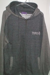 Western University Full Zip Hoodie Unisex Size XL