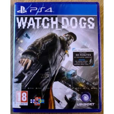 Playstation 4: Watch Dogs (Ubisoft) * NY *  Horten