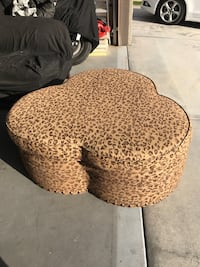 brown and black leopard print ottoman Bakersfield, 93314