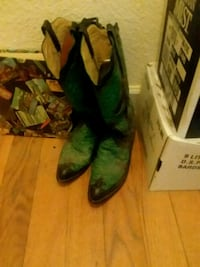 Cowboy boots made of seabass