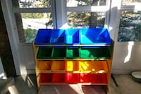 assorted color plastic toy organizer Arlington, 22201