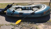 Gray and blue inflatable boat Rochester, 03867