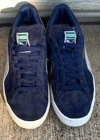 Men's Navy Blue Puma Suede Classic Low Top Sneakers - size 12