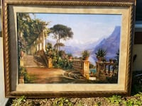 Lodge on Lake Como painting with frame Naples, 34117