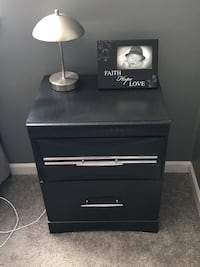 Bedroom furniture. 2 night stands. one tall dresser with 5 drawers. mirror dresser with 6 drawers. entertainment center with 2 drawers and 2 shelves. price is negotiable. Schererville, 46375