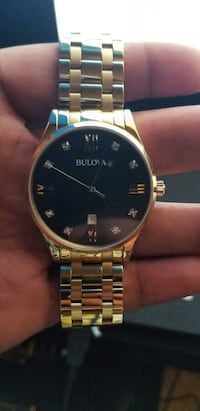Bulova men's diamond watch 262 mi