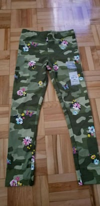 Caters Pants green army and pink floral pants Brossard, J4W