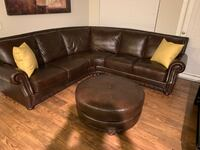 Fortuna Italian Leather sectional and Ottoman  Charlotte, 28278