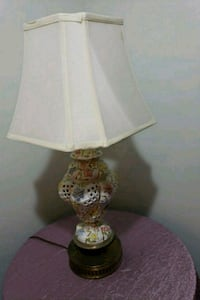 white and brown table lamp 21 mi