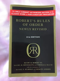 Robert's rules of order newly revised, Henry M. Robert III