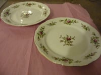 Lot of 2 Trasitions Fine China Plates for replacements PALMERTON