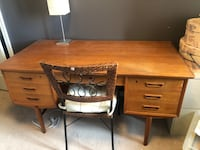 Real Brown wooden desk with chair Markham, L6B 1C4