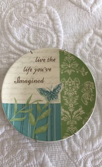"9"" ""Live the life you've imagined"" plate Fairfax, 22030"