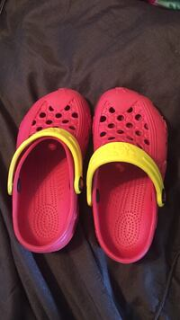 Red and yellow Holey, cricket size 12-13 Port Coquitlam, V3B 4G4