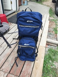 blue and black camping chair